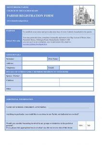 Parish Registration Form
