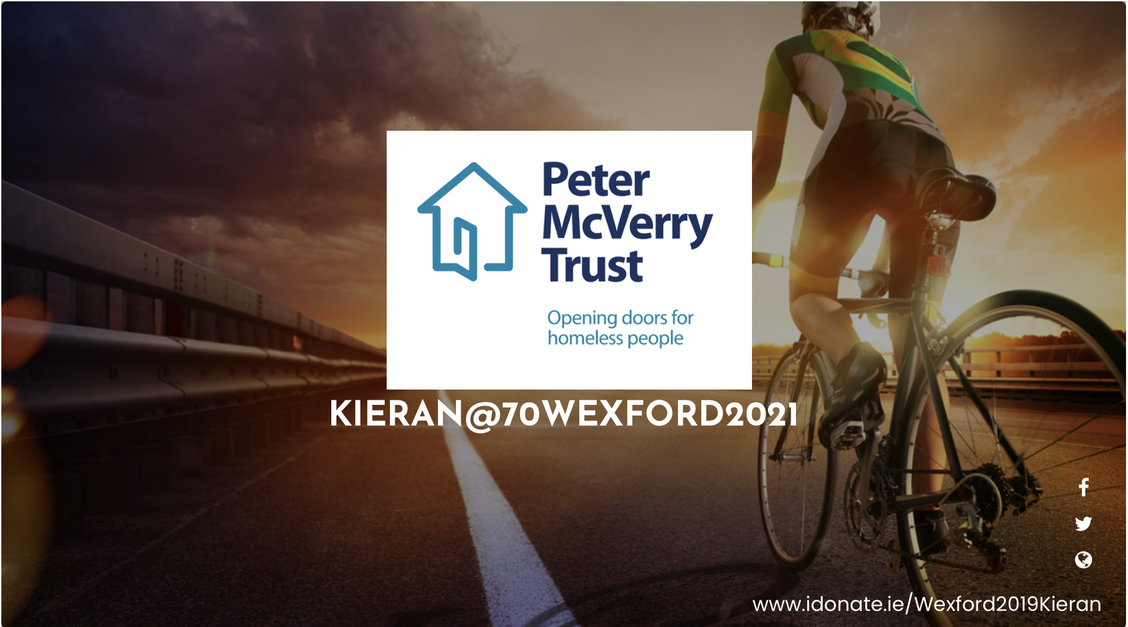 Cycle for Peter McVerry's Welcome Home charity.