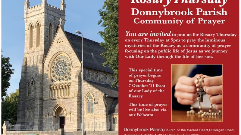 October – Rosary Thursday 5pm