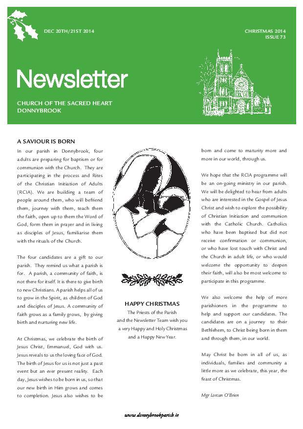Newsletter 73